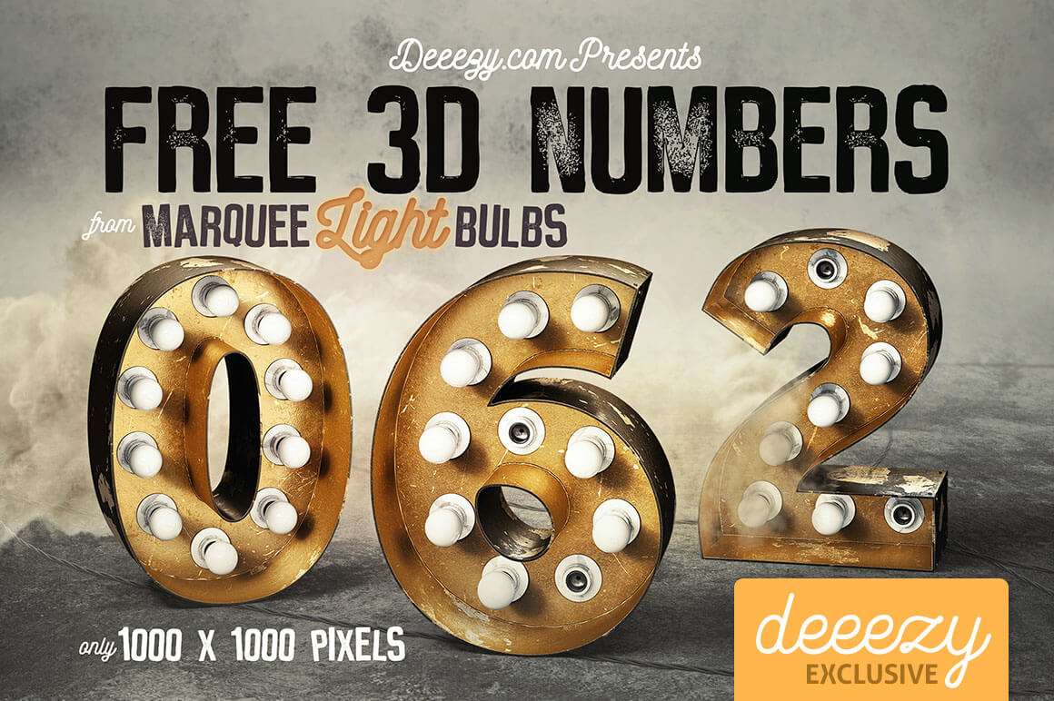 Free 3d numbers
