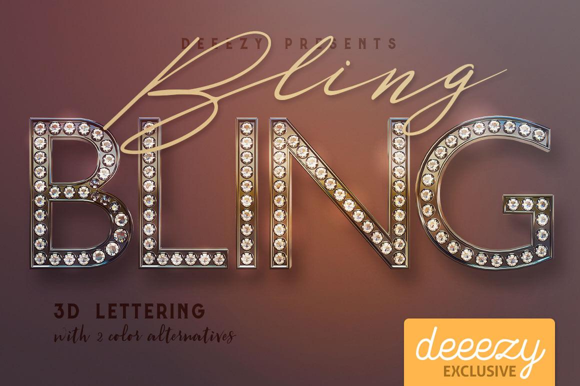 bling-bling-3D-lettering