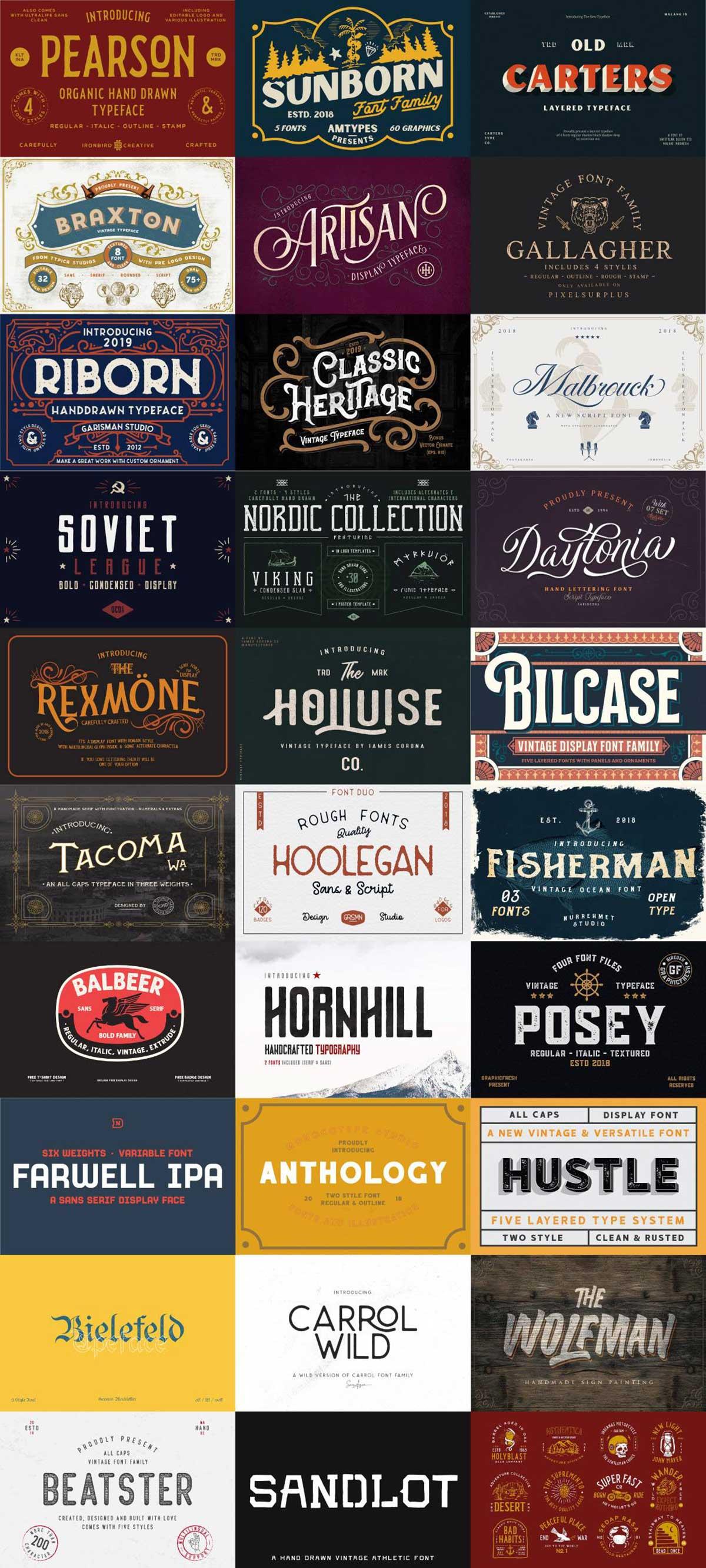 The Heritage Font Bundle