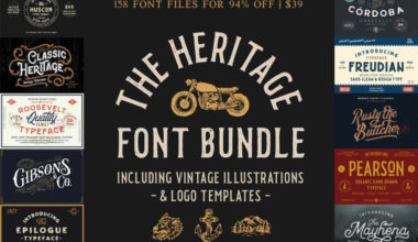 The Heritage Font Bundle
