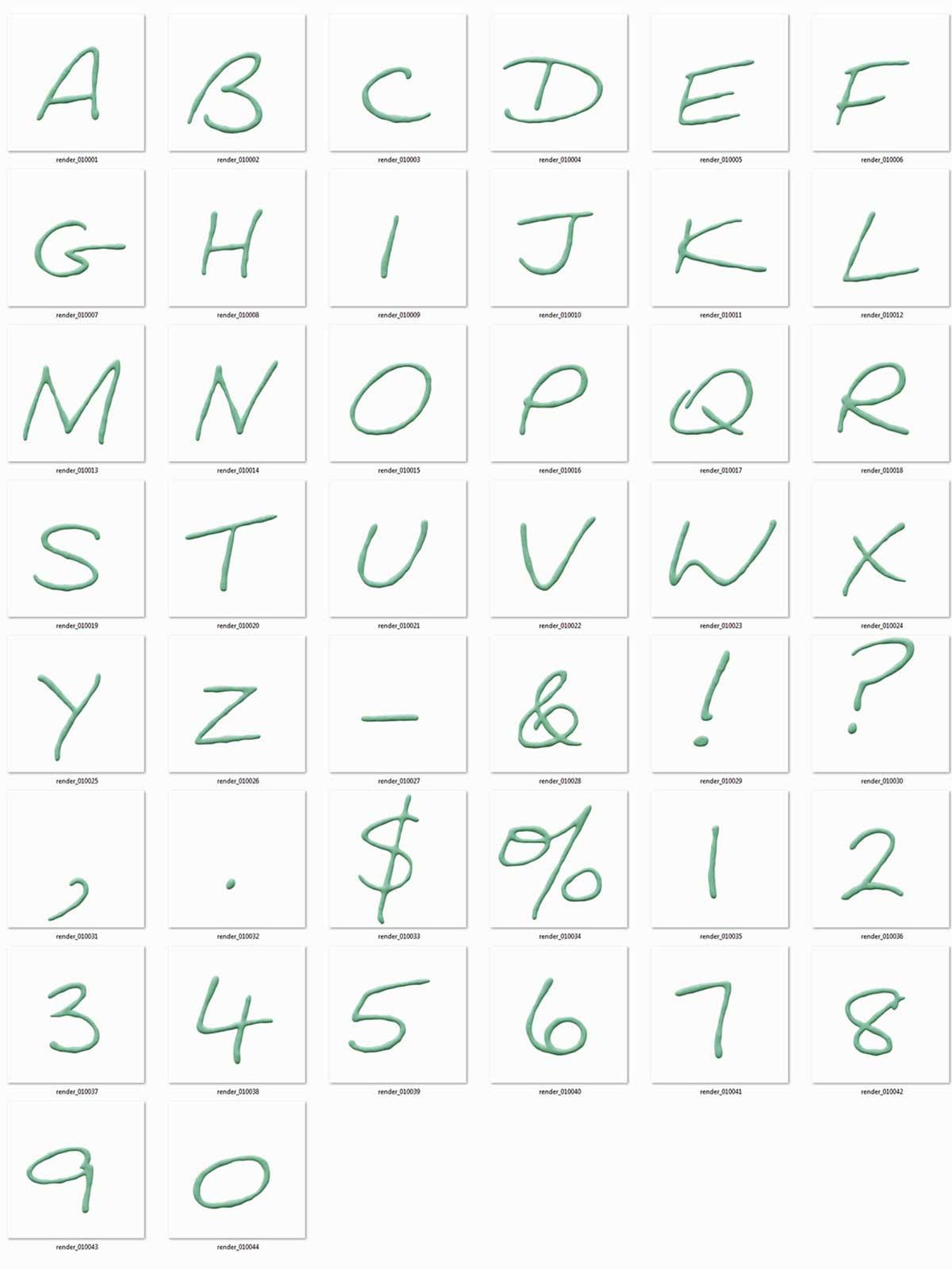 Thin Plasticine 3D Lettering