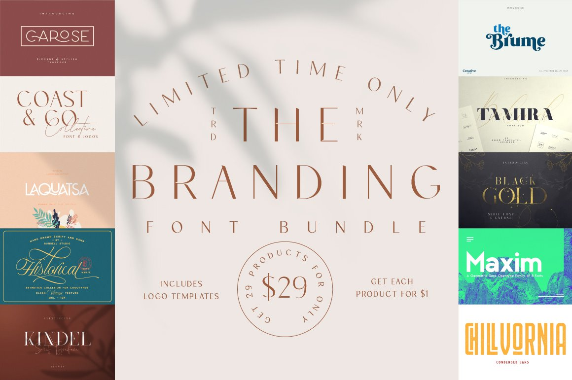 The Branding Font Bundle