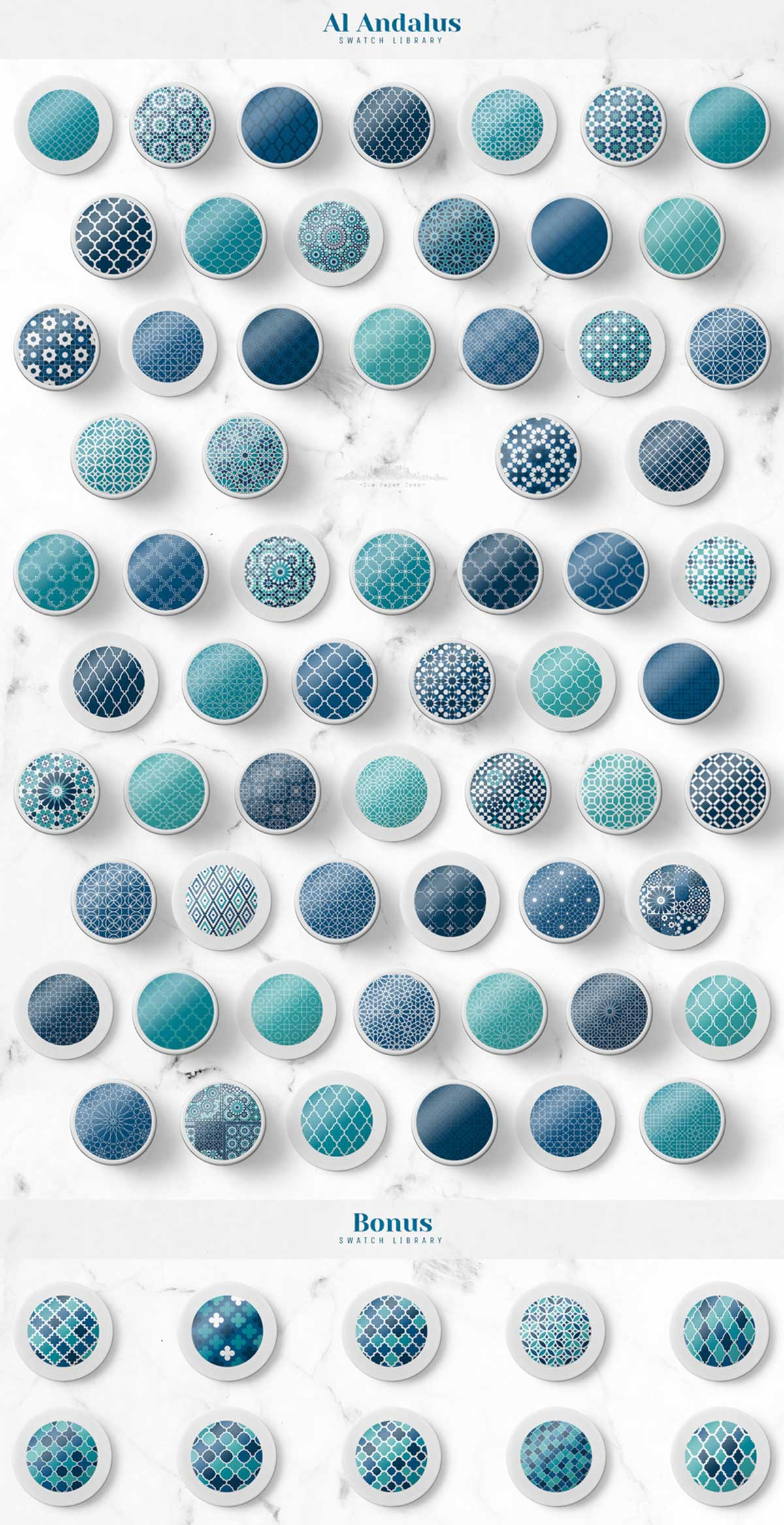 Seamless Moroccan Mosaic Patterns