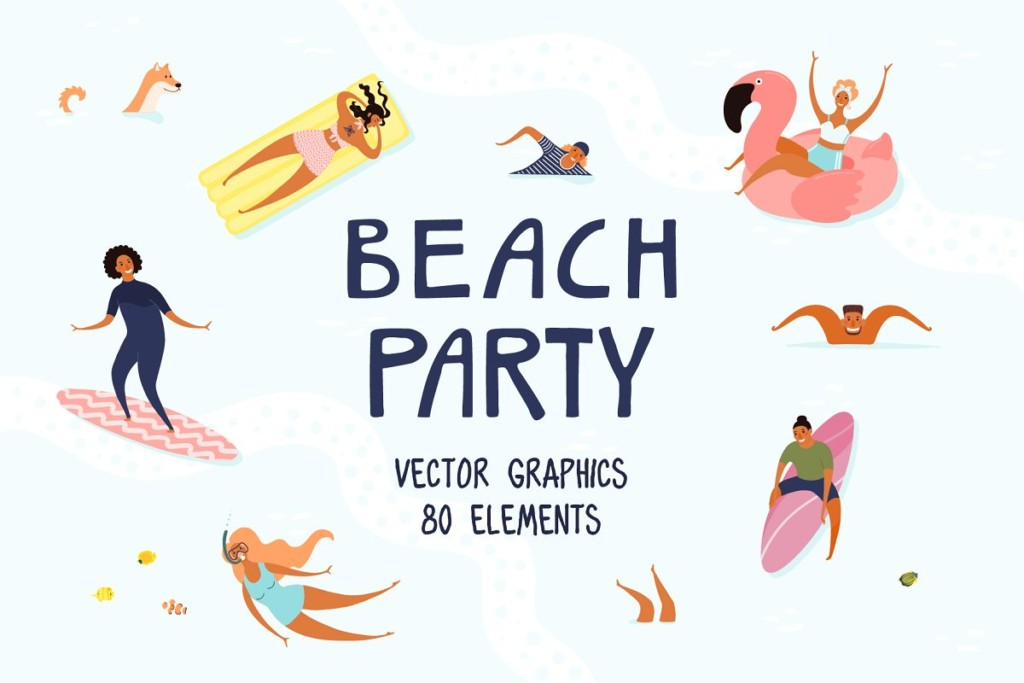 Beach Party, Summer Vector Art