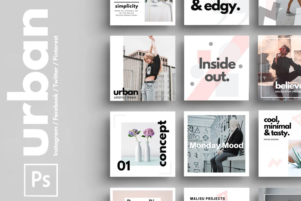 PSD | Urban Social Media Pack