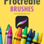 Stunning Procreate brushes - Copic, halftone, watercolor, chalk, light