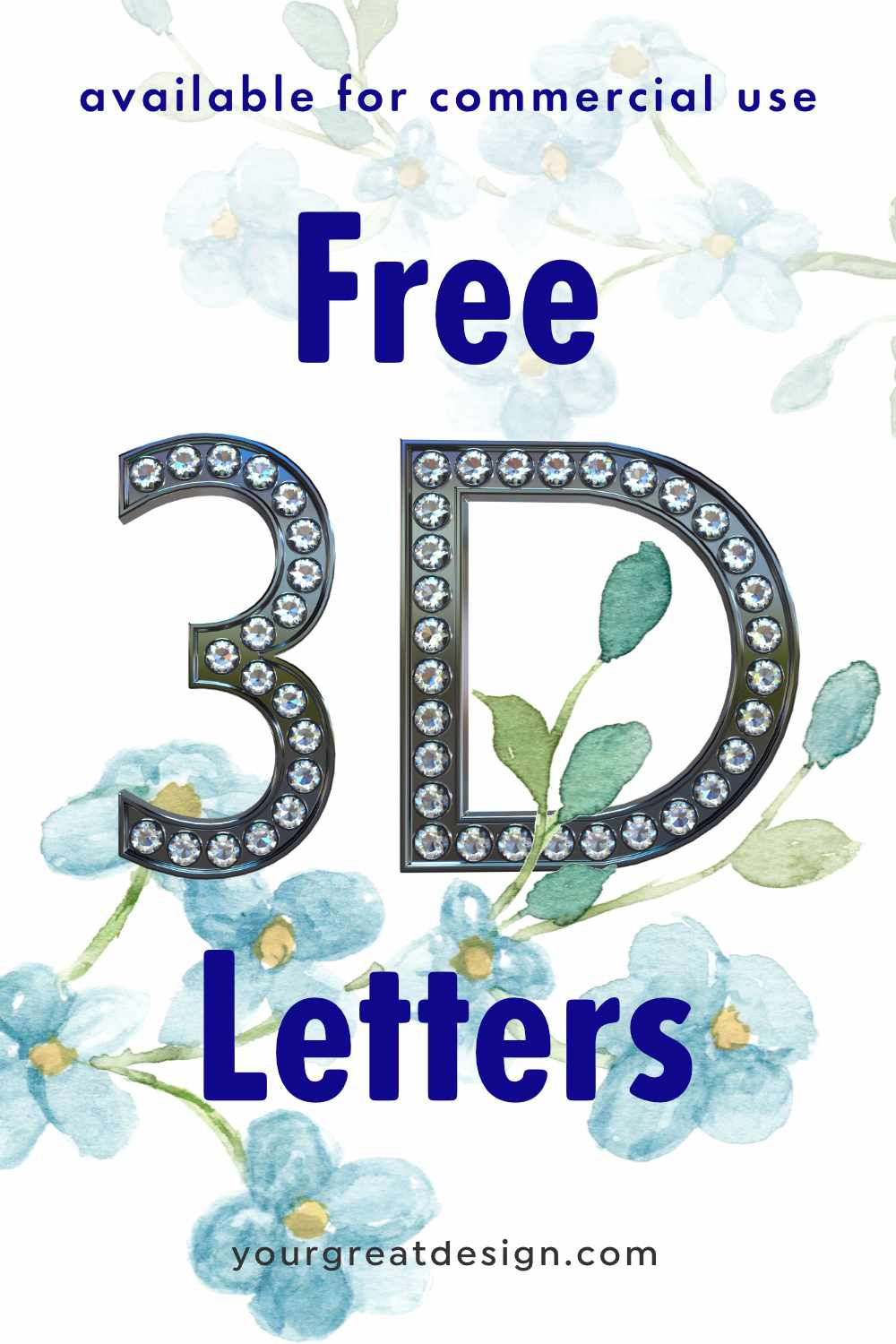 Freebie 3D Letters - available for commercial use