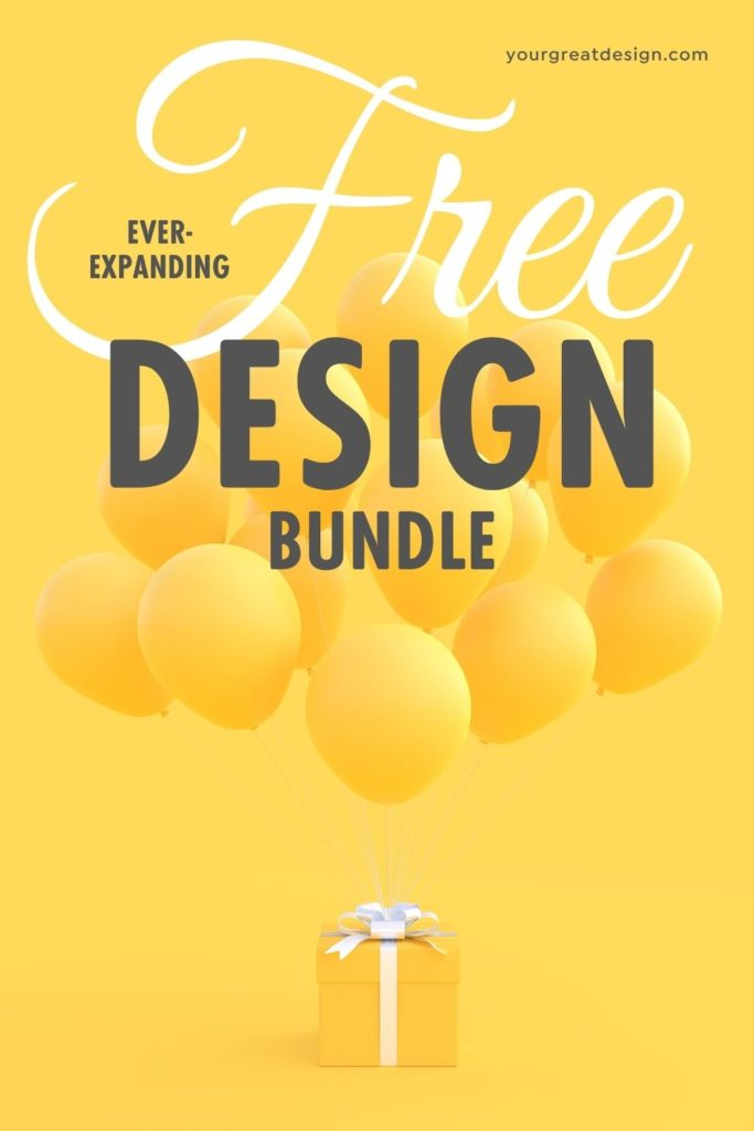 Free digital design bundle with 30+ items commercially available!