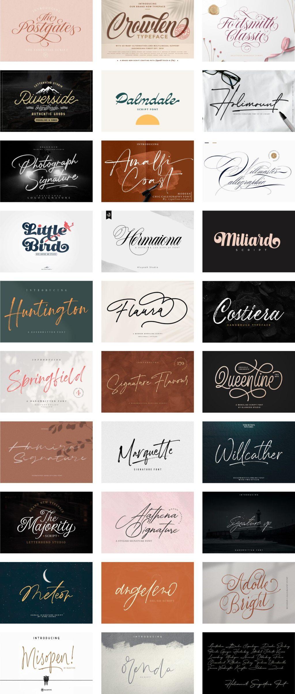 The Versatile Script Font Bundle