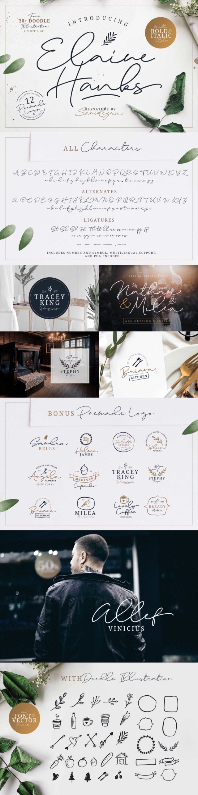 The Handcrafted Font Bundle