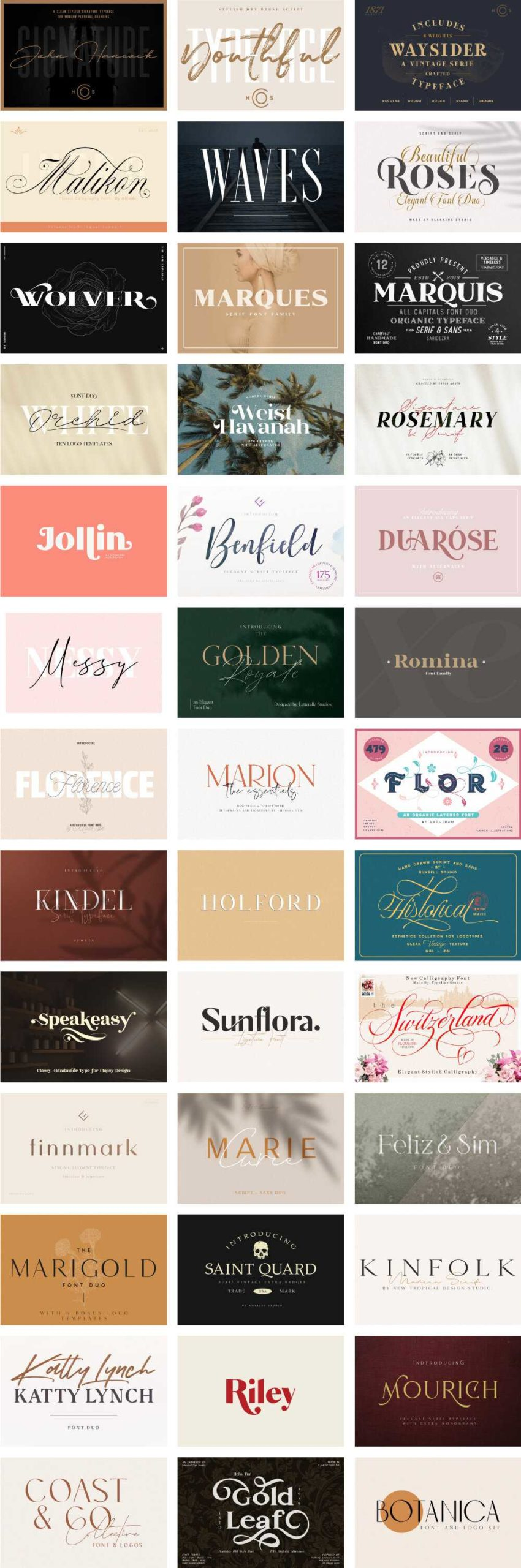 The Luxury Font Bundle