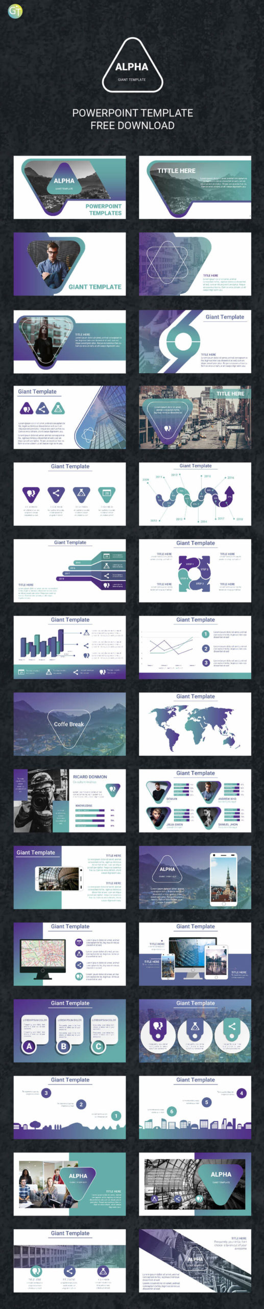 ALPHA - FREE POWERPOINT TEMPLATE