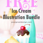Free for the month of July only! Clip art of the ice cream collection