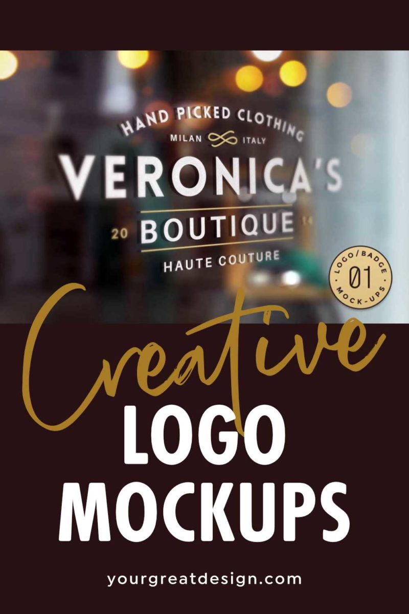 Creative Logo Mockups to use when proposing a logo - for crowdsourcing projects and creating portfolio images Also available