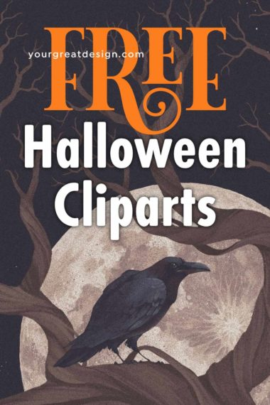 Halloween free spooky clipart & design resource 2020