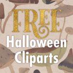 Halloween free spooky clipart & design resource 2020