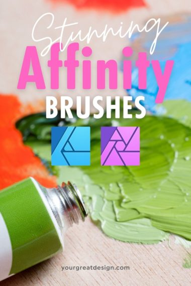 Stunning Affinity Brushes – Pen, Marker, Watercolor, Mosaic, Stitching