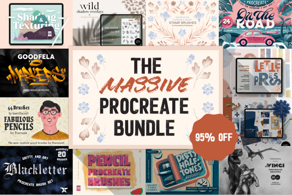 by Feb 15 The Massive Procreate Bundle